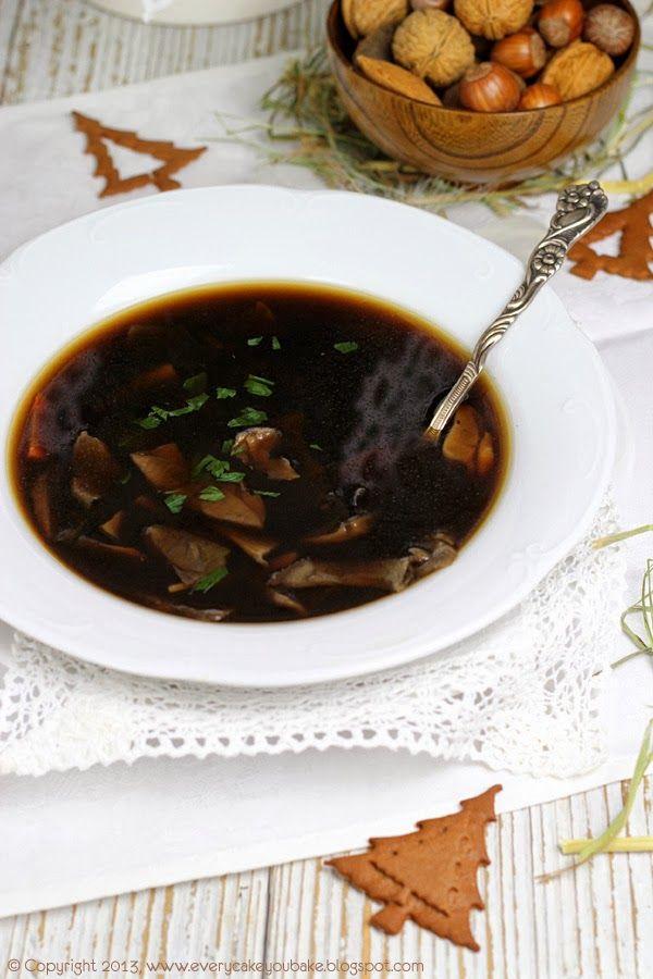 Wigilijna Zupa Grzybowa Food Zupa Veg