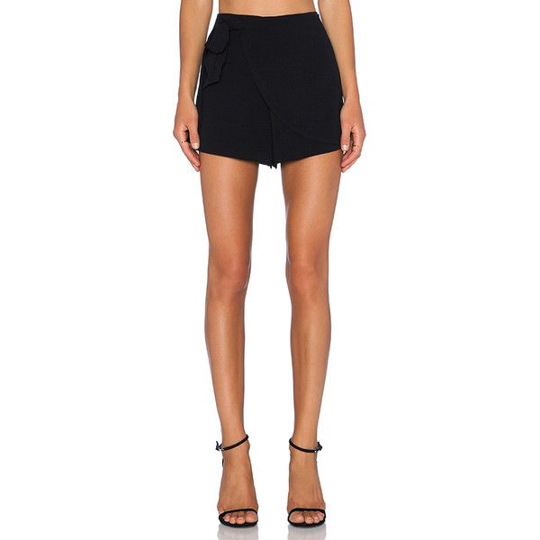 1. STATE Wrap Front Side Tie Short Shorts (1,225 HNL) ❤ liked on Polyvore featuring shorts, elastic waistband shorts, hot shorts, side tie shorts, mini short shorts and hot pants