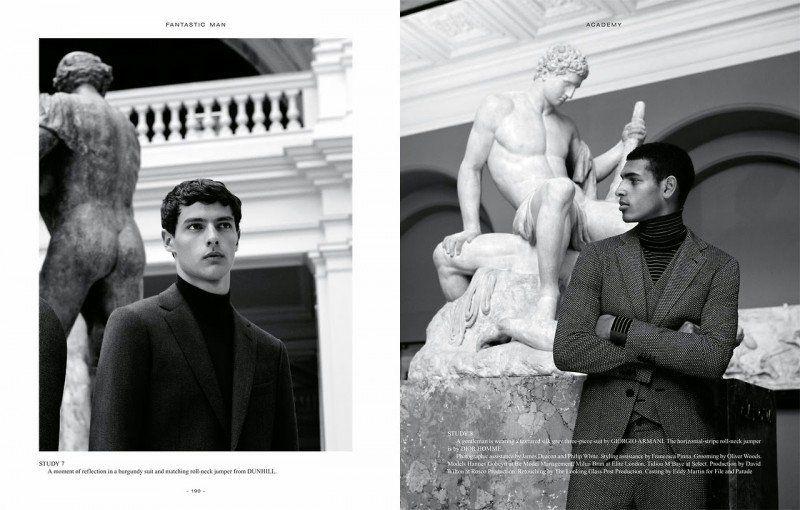Academy Photographer: Andreas Larsson Stylist: Hannes Hetta Models: Mihai Bran, Hannes Gobeyn, Tidou M'Baye