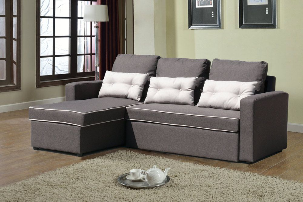 Sofa Bed Arredamento.Corner Sofa Bed In Microfiber 3 Seats With Cushions Smeraldo