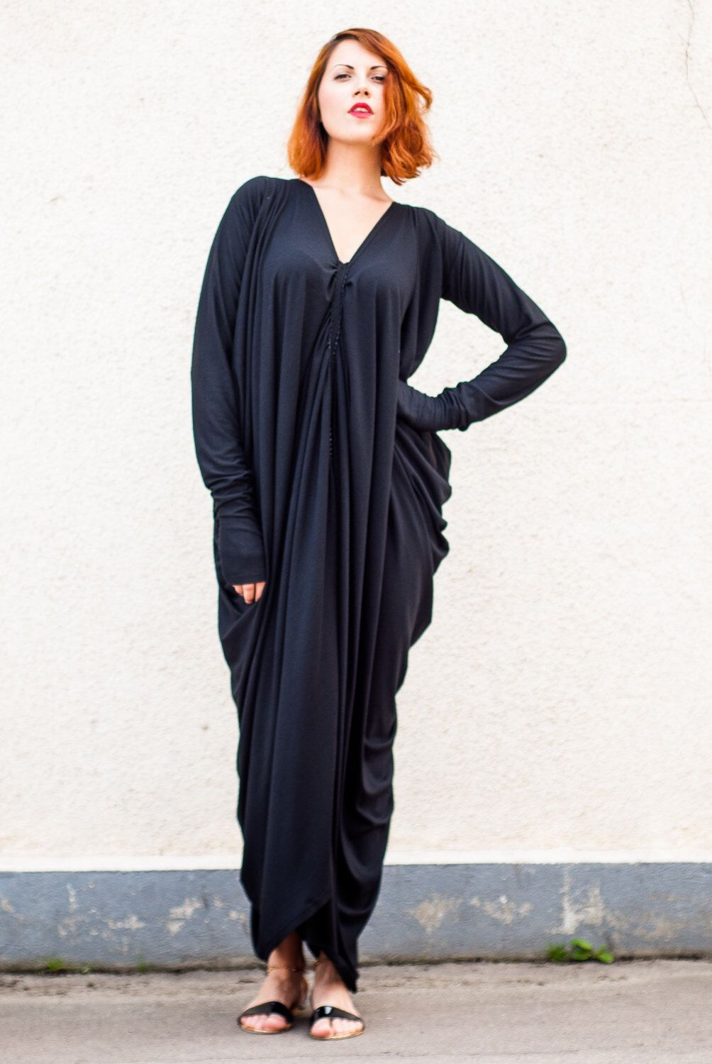 Black maxi dress maxi dress black kaftan casual dress black long