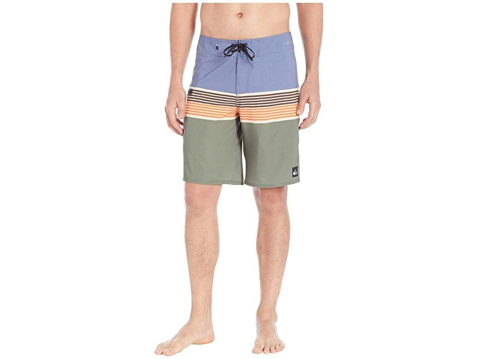 Quiksilver Highline Division 20 Boardshorts Bijou Blue Mens Swimwear This captivating boardshort is equally at home amongst crashing waves or alongside glassy pool waters...