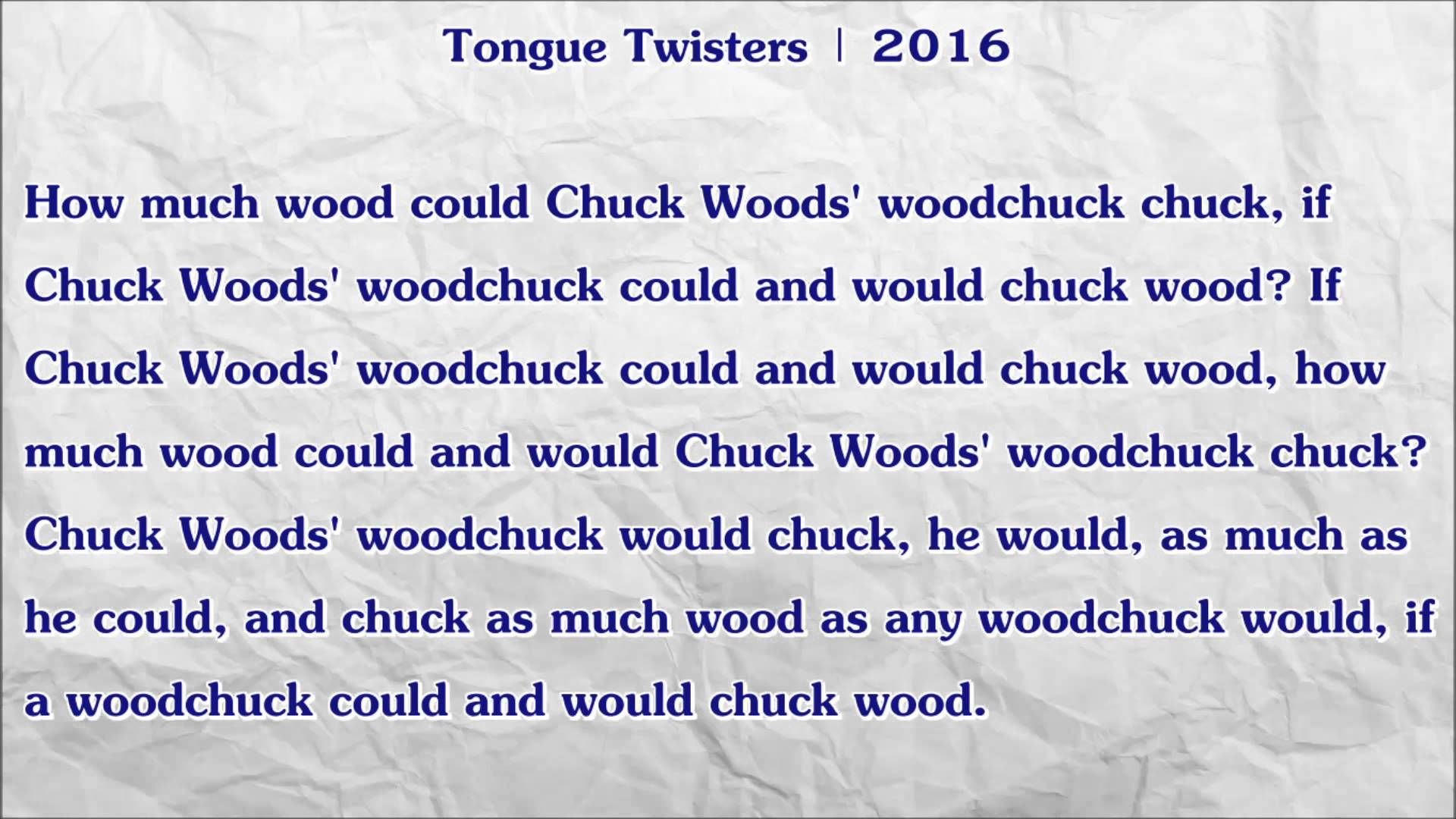 How much wood could Chuck Woods' woodchuck chuck, if Chuck ...