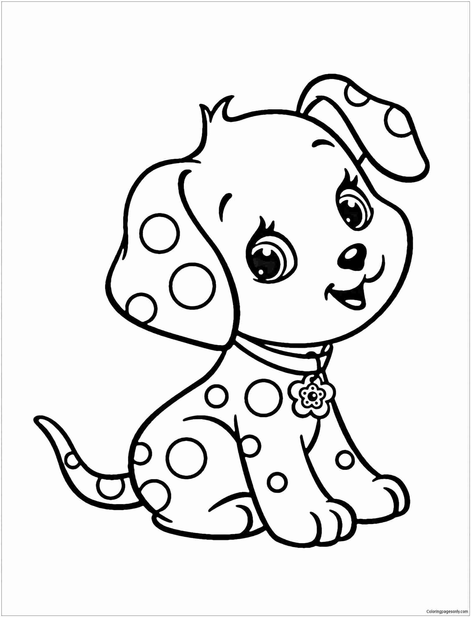Animal Coloring Book For Kids Elegant Coloring Pages Easy Coloring Dogs Animal Colouring Free In 2020 Puppy Coloring Pages Dog Coloring Page Cute Coloring Pages