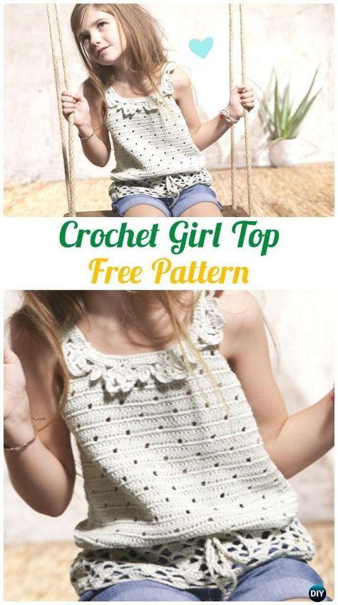 Crochet Girl Top Free Pattern - #Crochet Kids Sweater Tops Free ...