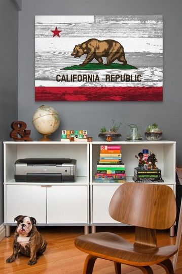 California Flag Grunge Wood Boards Canvas Print By Non Specific On HauteLook