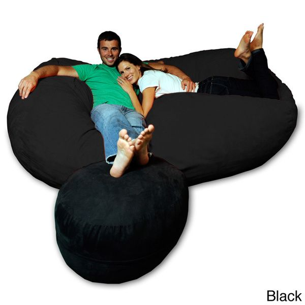 75 Foot Soft Memory Foam Micro Suede Beanbag Chair Lounger