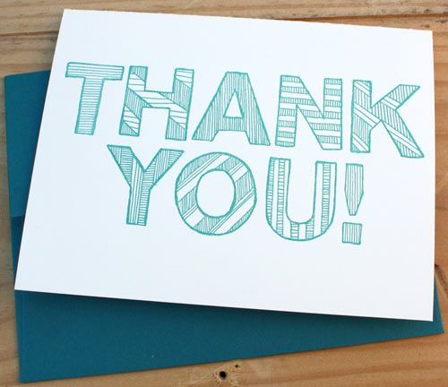 30 Modern Thank You Cards