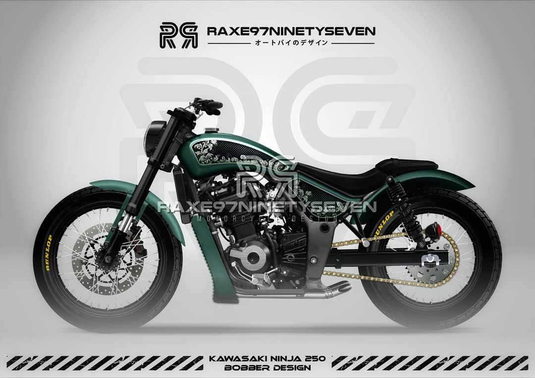 Kawasaki Ninja250 Bobber Specially designed For @dewa_alit