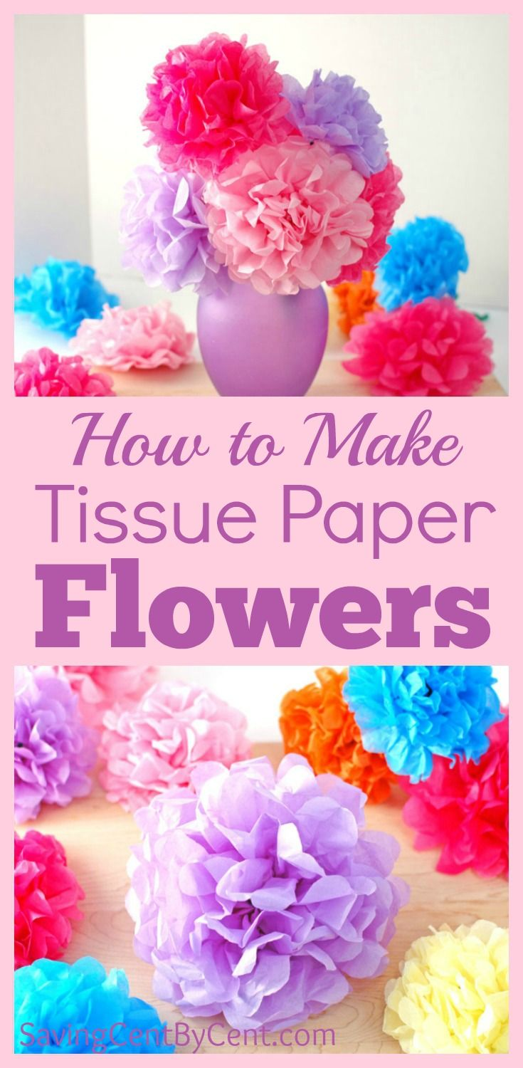 How to Make Tissue Paper Flowers Video Tutorial - Saving Cent by Cent