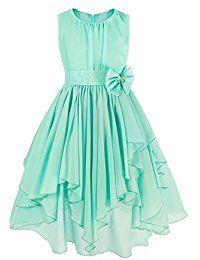 38d3c6d05 Freebily Vestido de Boda Bautizo Fiesta Graduación para Niña Dama de Honor  Vestido Princesa Infantil
