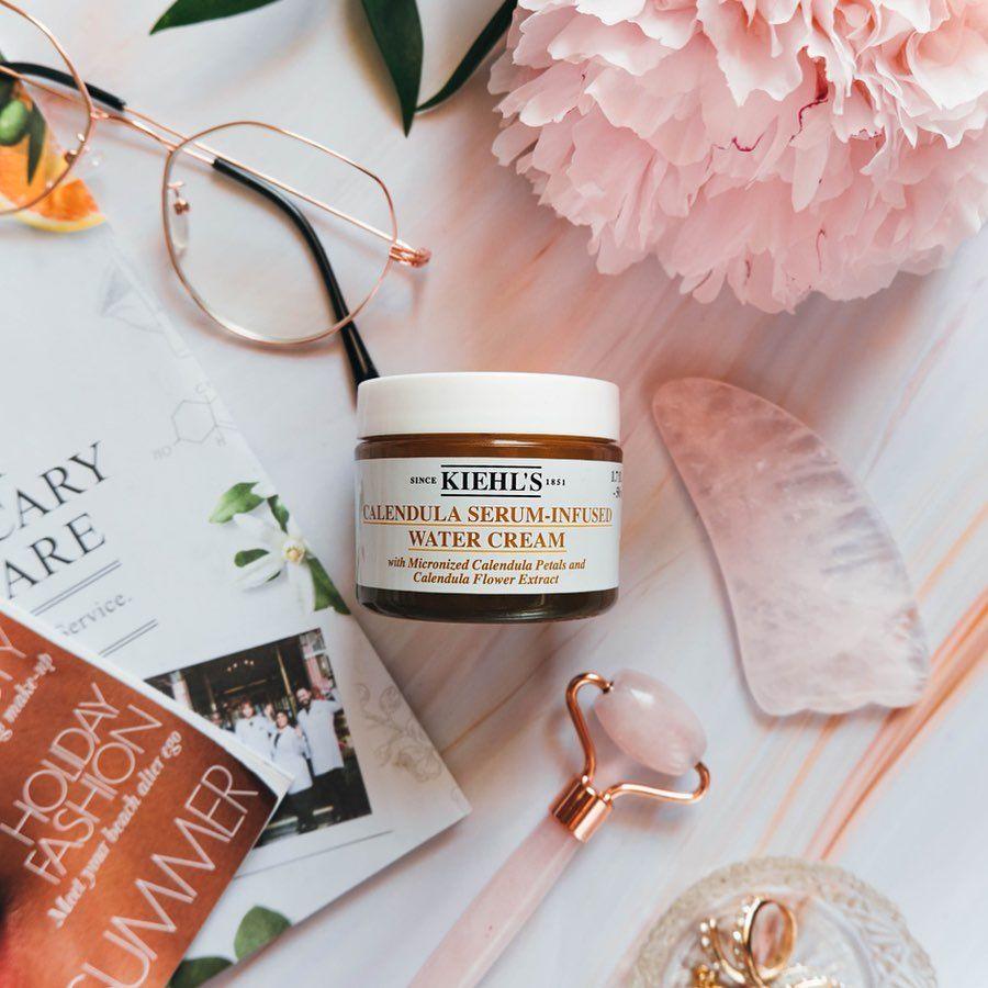 Summer Skin Care Hero Kiehl S Calendula Water Cream Swipe To Look Inside The Jar Calendula Petals Calendula Flower Flower Extract
