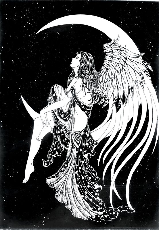 coloring pages of mystical angels - photo#23