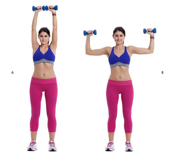 Fitness: Ejercicios con mancuernas para tonificar y fortalecer hombros