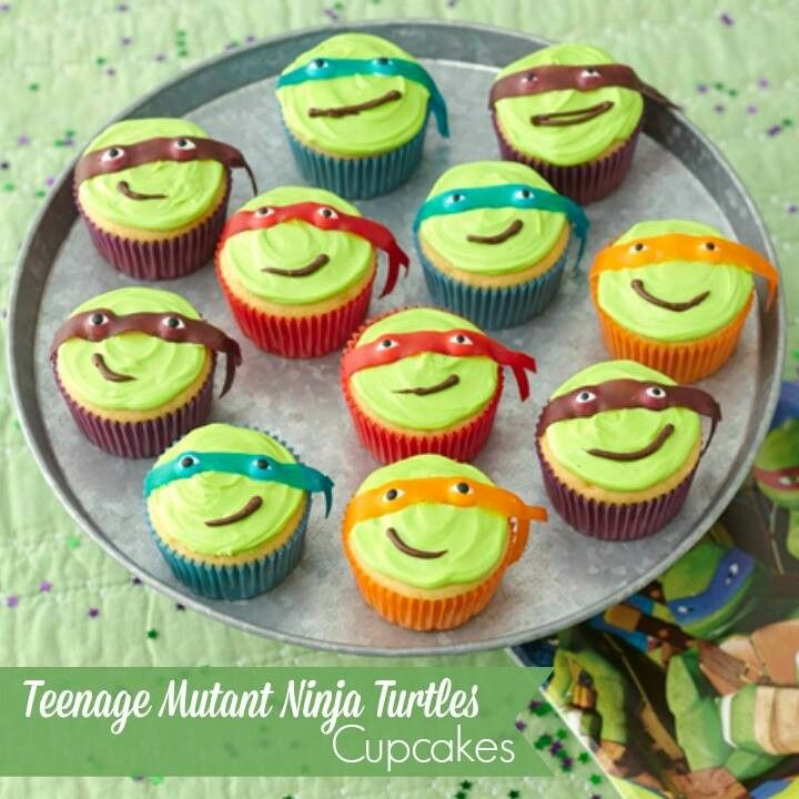 Teenage mutant ninja turtle cupcakes Lilybels Pinterest Ninja