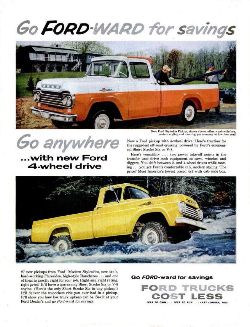1959 Ford Truck Ad 02 Pickup Trucks