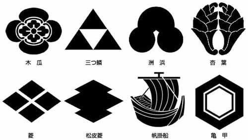 武将の紋 武家の家紋の発生 家紋 図案 ステンシル