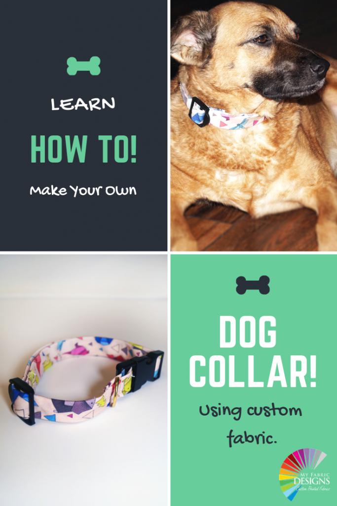 DIY Dog Collar! My Fabric Designs Diy dog collar