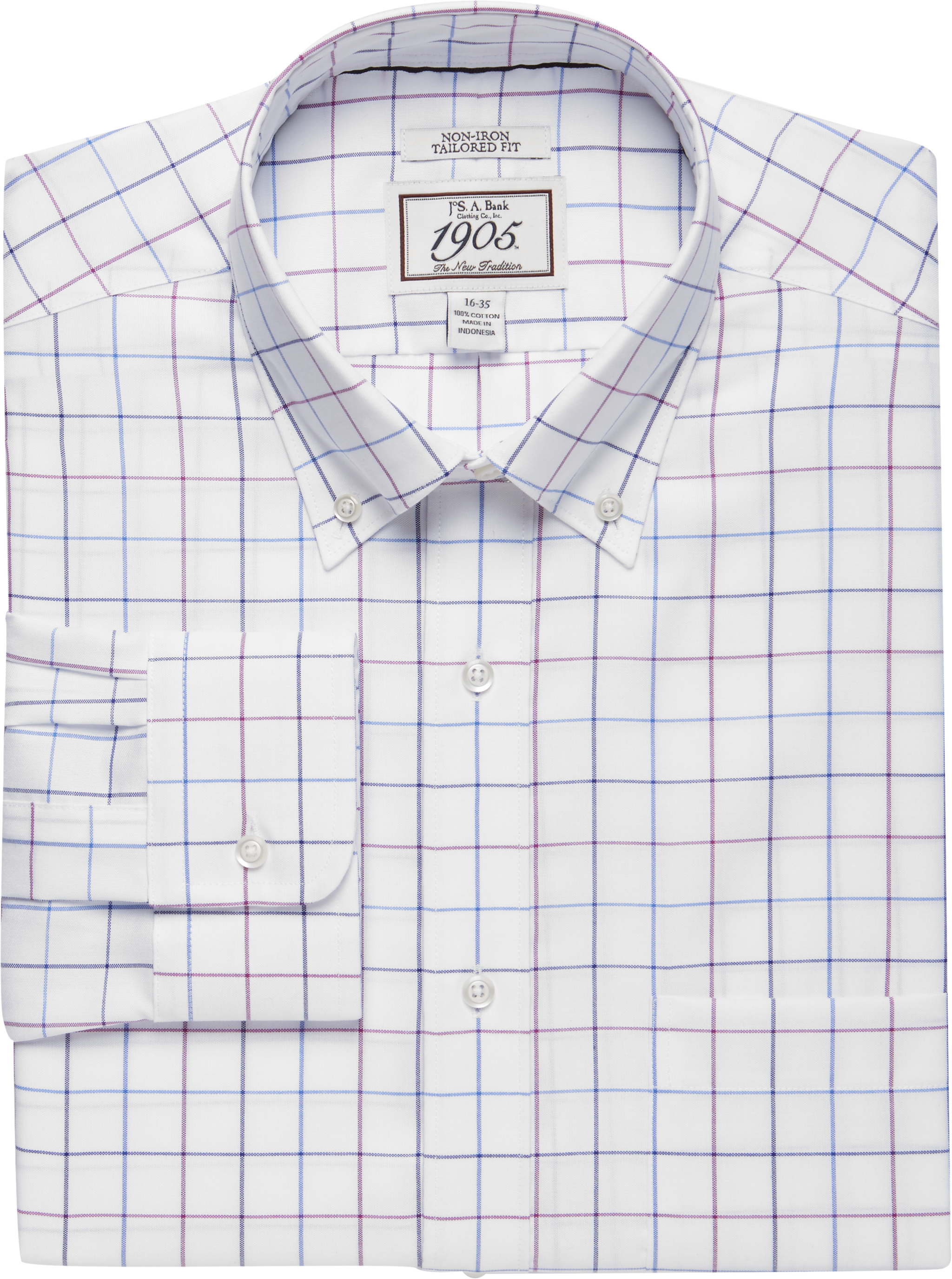 1905 Collection Tailored Fit Button Down Collar Windowpane Dress Shirt Big Tall Clearance Clearance Dress Shirts Specials Jos A Bank In 2021 Shirt Dress Non Iron Dress Shirts Button Down Collar [ 2751 x 2048 Pixel ]