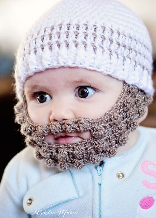 Bearded Infants Are Adorable And This Free Pattern In Multiple