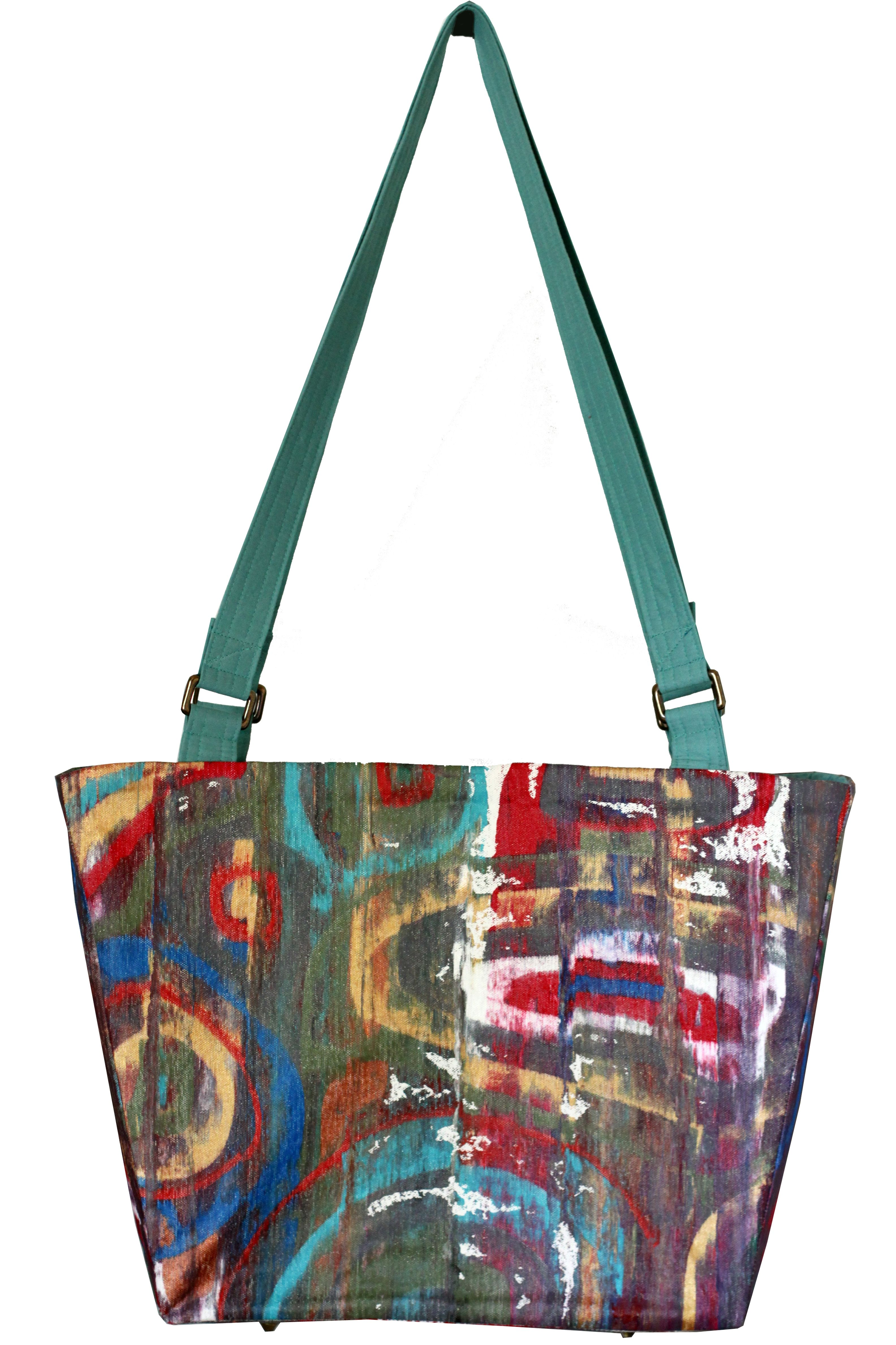 Totally Original Canvas Carry All Lovely One Of A Kind Hand Painted Designer
