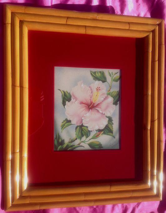 1940u0027s (Hawaiian) Rattan Framed Airbrushed Hibiscus By Tip Freeman |  Vintage Hawaiian Rattan Furniture, Etc. | Pinterest | Rattan
