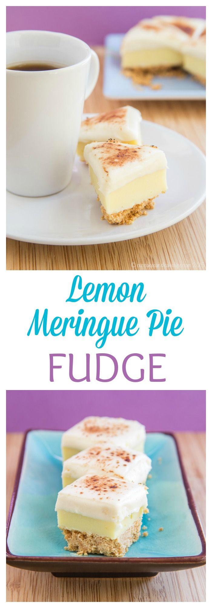 Photo of Lemon Meringue Pie Fudge – Cupcakes & Kale Chips