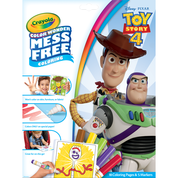 Crayola Color Wonder Mess Free Toy Story 4 Coloring Set 18 Pieces Gift For Kids Walmart Com In 2020 Color Wonder Free Toys Toy Story Coloring Pages