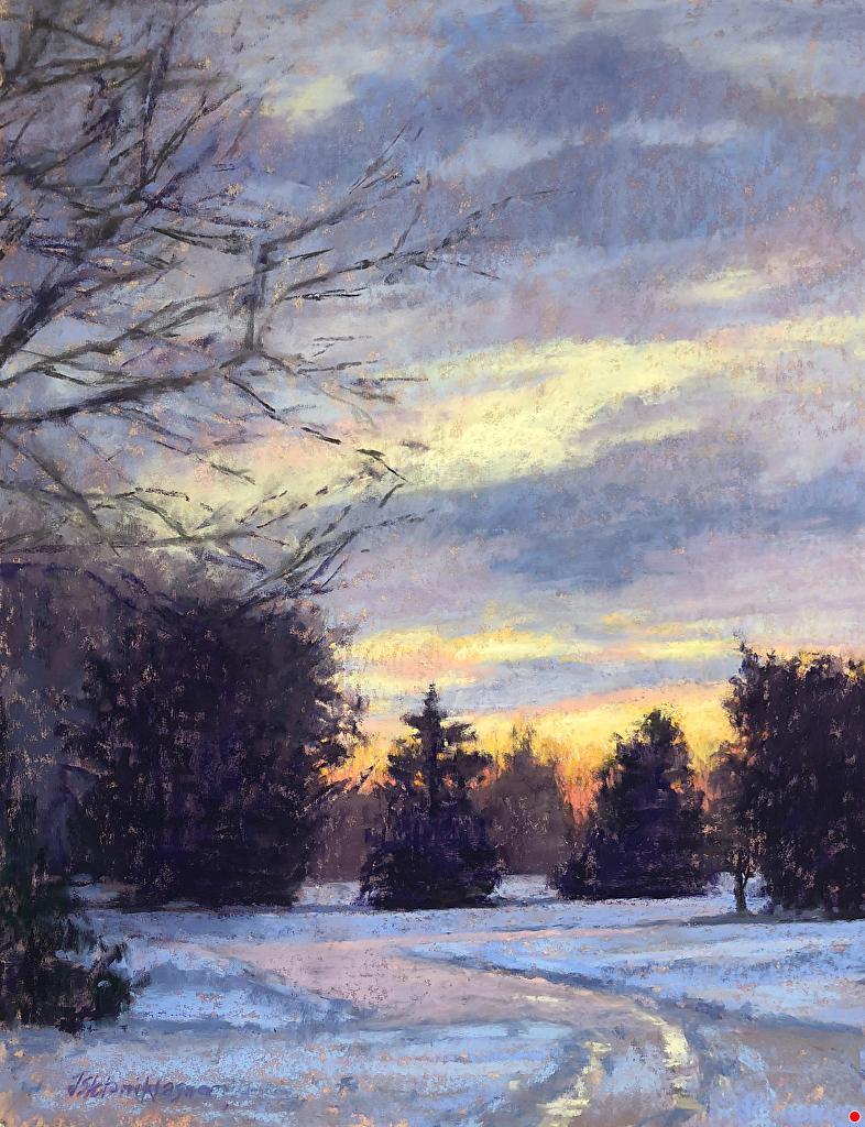 Jill Stefani Wagner January Sunrise Www Jillwagnerart Com Pastel Painting Pastel Landscape Oil Painting Landscape