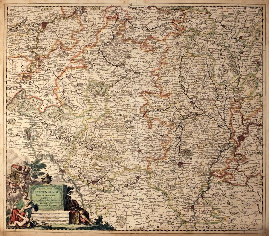 Ducatus Lutzenburgi Nova Et Accurata Tabula DANCKERTS Theodore - Antique maps amsterdam