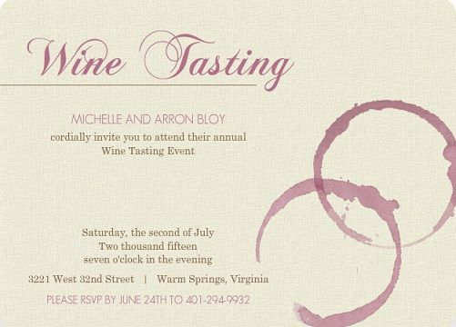 Wedding Festival Invitations: Summer Is The Perfect Time For A Wine Tasting Event