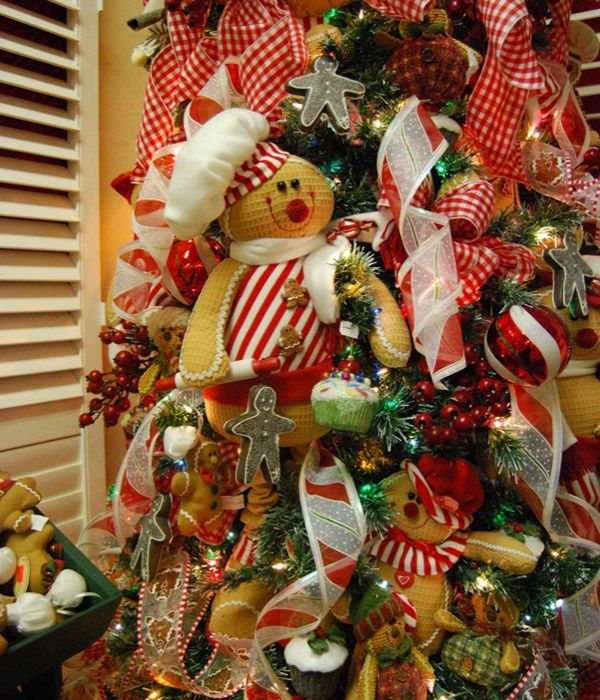 A decorated tree Gingerbread stuff Pinterest Christmas
