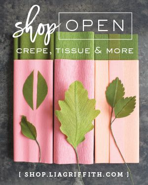 Spring paper flower garland crepe paper tutorials and template mightylinksfo