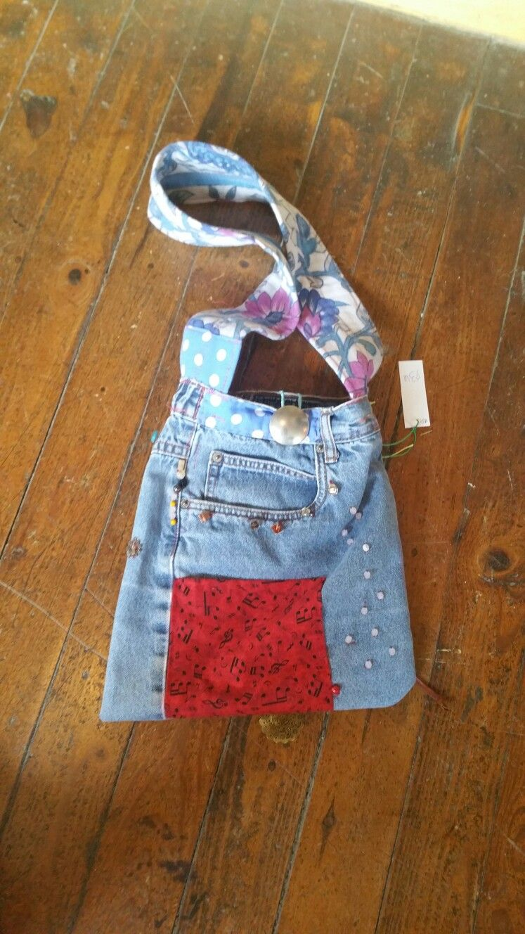 Upcycled Jean Hand Bag