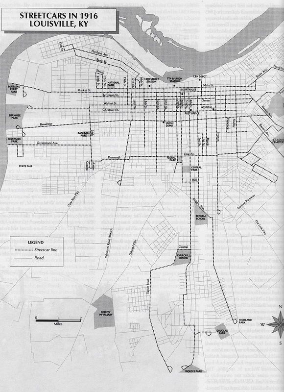 1916 - Louisville Streetcar Map | Louisville Transport & Related in Kentucky Road Map Black And White on blank printable state outlines kentucky, outline of the state of kentucky, printable outline map of kentucky, drawing outline of kentucky,