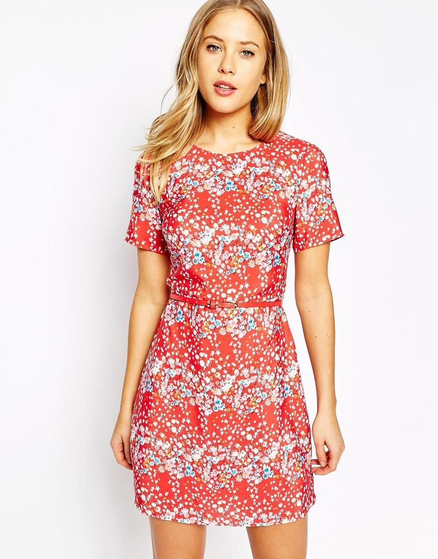 Oasis | Oasis Blossom Printed Shift Dress at ASOS | Wedding Guest ...