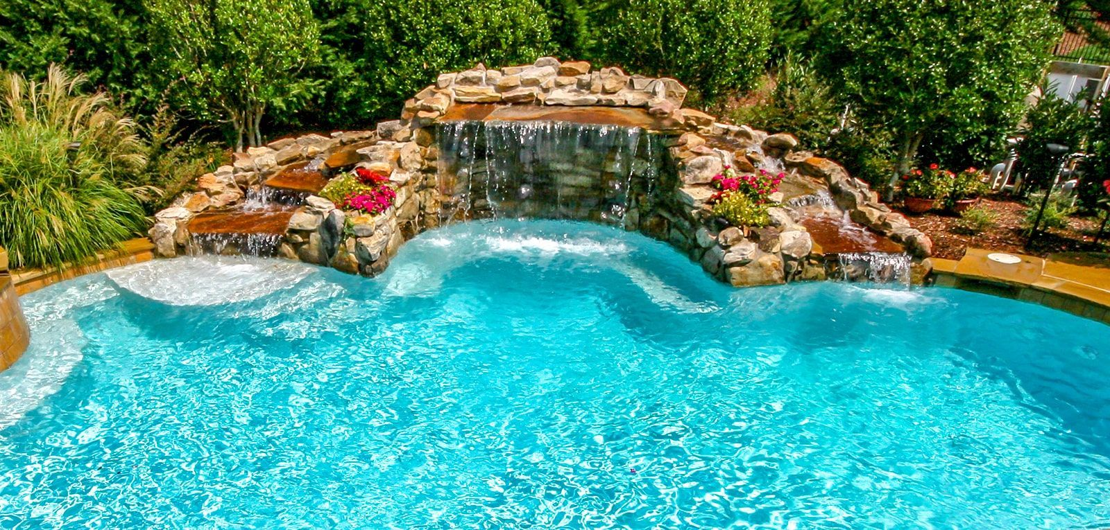 Swimming Pool Rock Waterfall Pictures Blue Haven Swimming Pools Backyard Inground Cool Swimming Pools Rock Waterfall