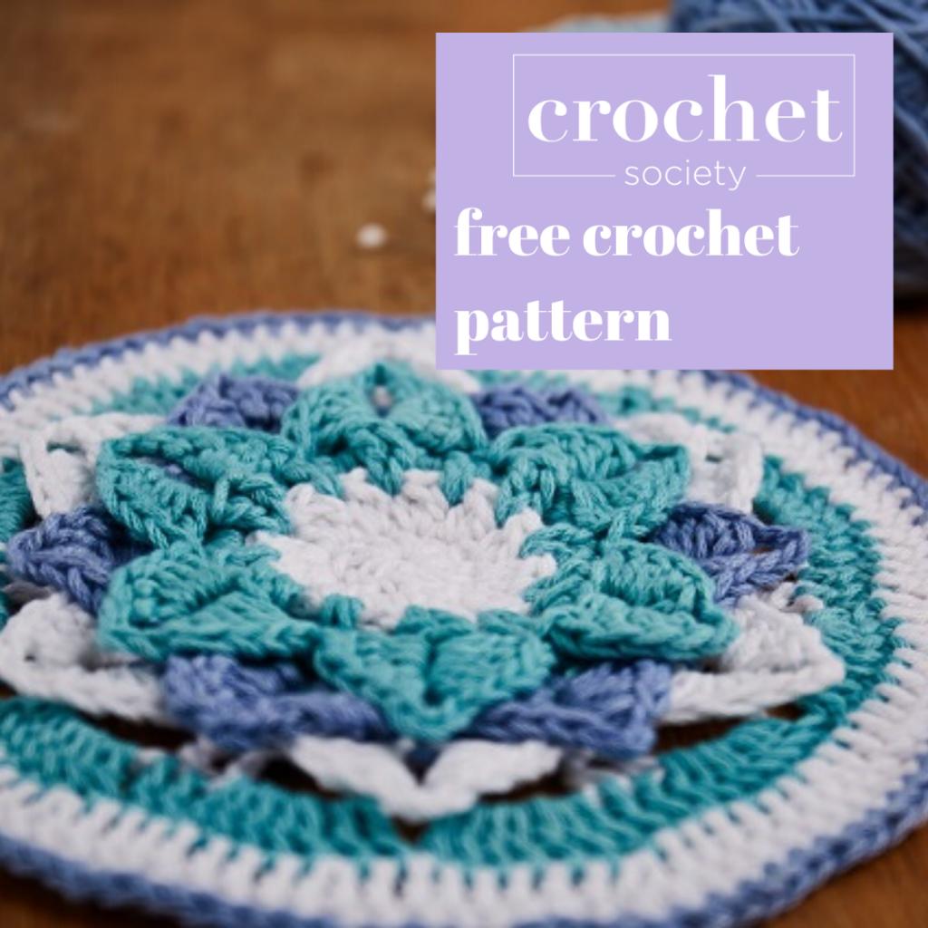 Porcelain Mandala Free Crochet Pattern Crochet Society In 2020 Crochet Patterns Free Crochet Crochet