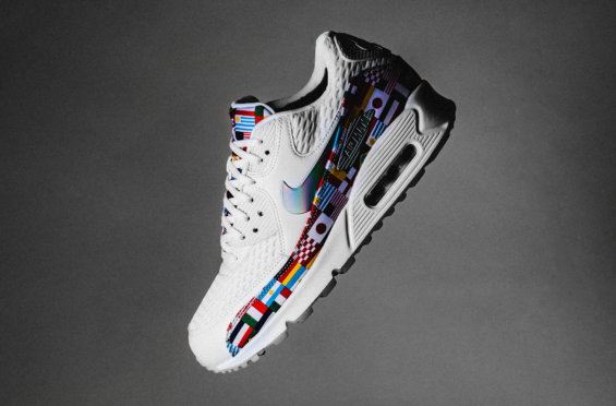 c0d8e7a51ebf65 Get World Cup Fever With The Nike Air Max 90 One World (International Flag)