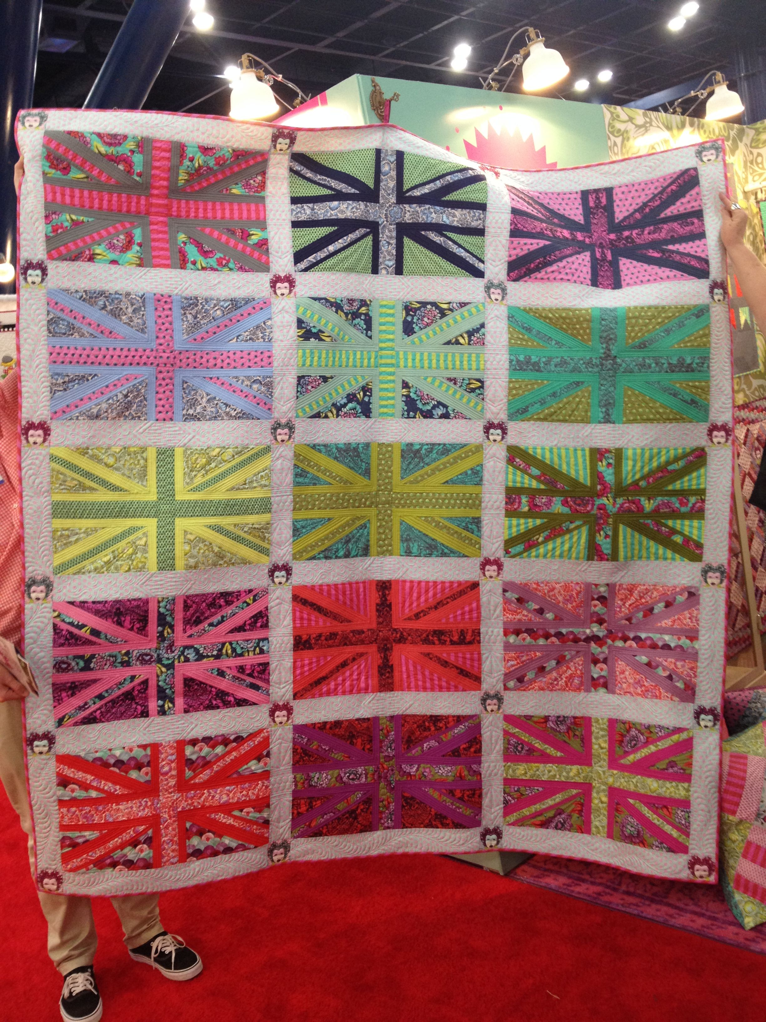 Queen Elizabeth I by Tula Pink for FreeSpirit Union Jack Quilt. Kits ...