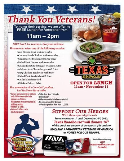 Texas Roadhouse Is Honoring Veterans By Treating Them To A Free
