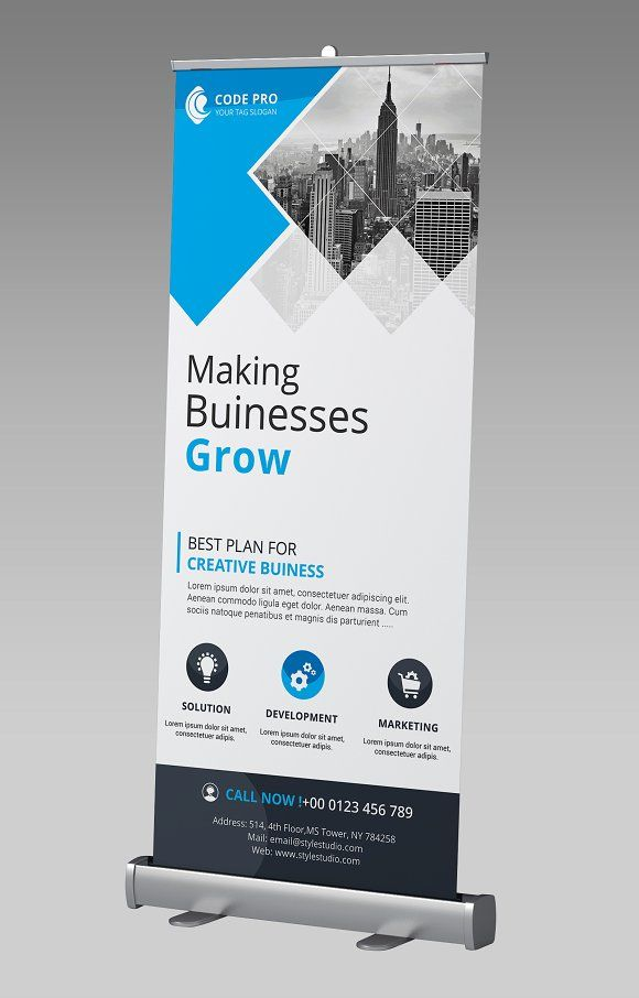 business rollup banner by creative idea on graphicsauthor templates pinterest rollup. Black Bedroom Furniture Sets. Home Design Ideas