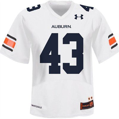 low priced adcbb 6cd38 Under Armour Auburn Tigers #43 Replica Football Jersey ...