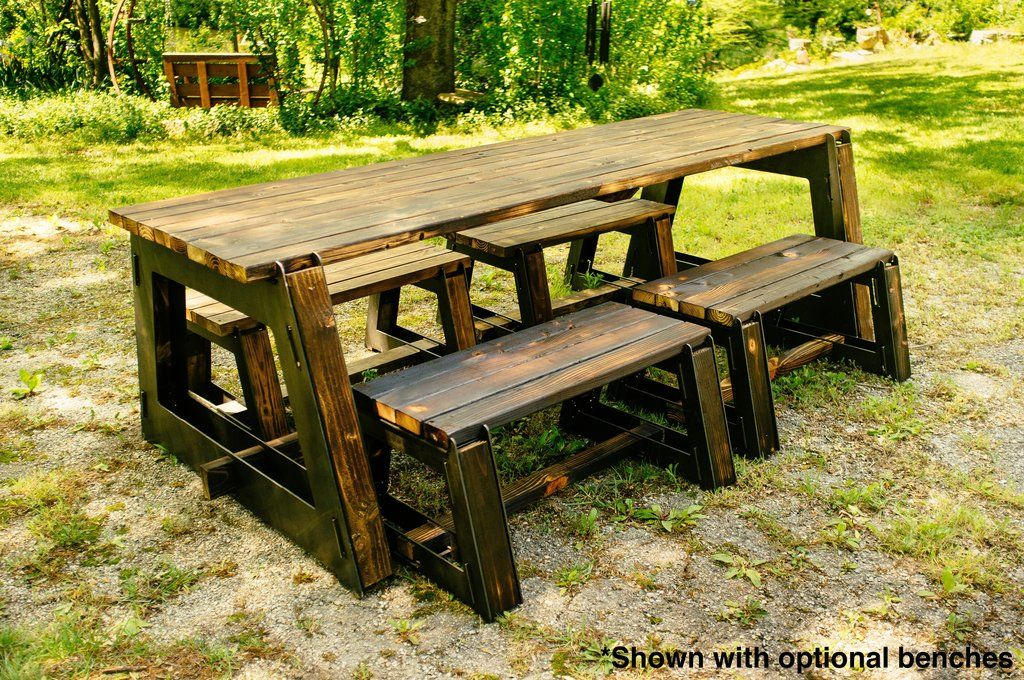 Collection - 1 Table and 4 Bench Kits | Diy pallet ...
