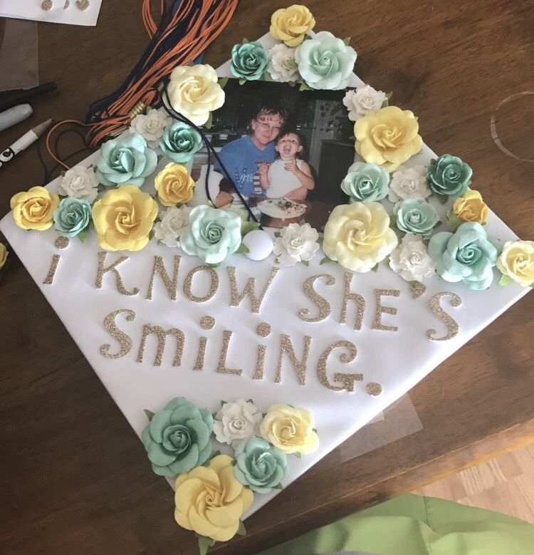 Image result for i know she's smiling graduation cap