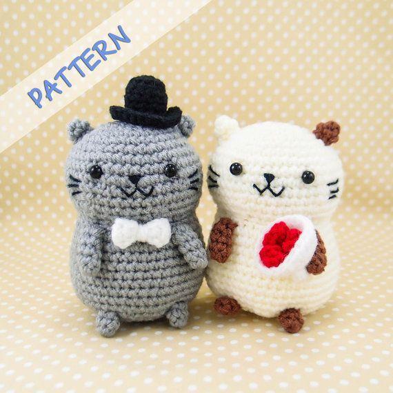 Cat Couple Amigurumi Crochet Pattern PDF By SnacksiesHandicraft Diy Wedding GiftsWedding