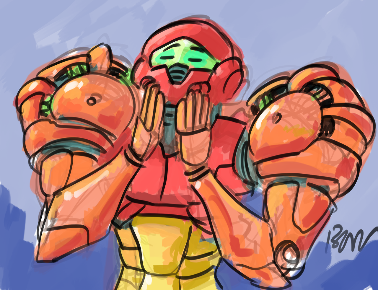 41dbf993655656678b29fdbcc74cfd06 pleased samus metroid and meme