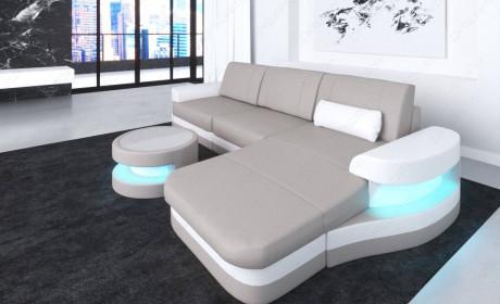 Leather Corner Sofa Tampa With Usb In 2020 Leather Corner Sofa