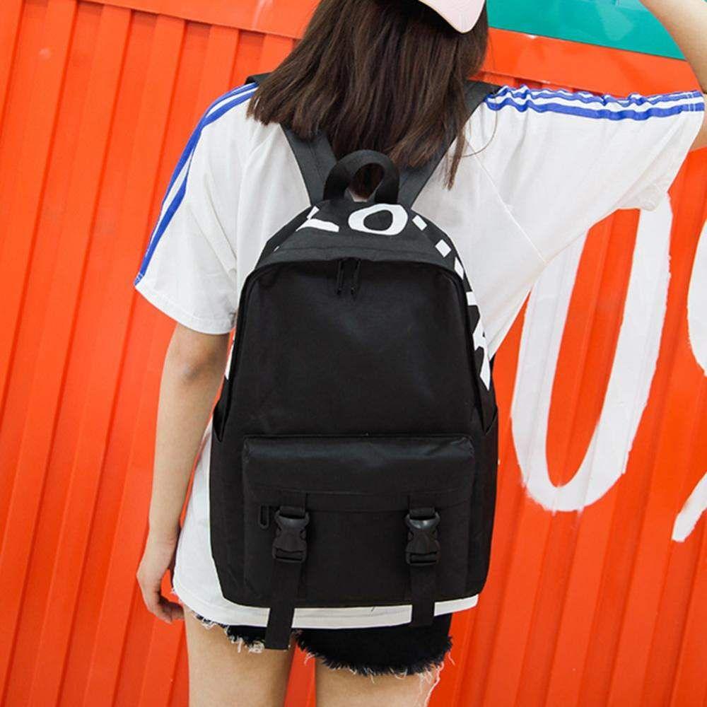 d8a52031dd Preppy Style Canvas Backpacks for Women Men Teen Shoulder School Bags  Travel Rucksack Mochila Feminina
