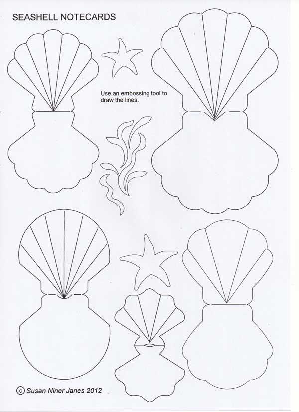 Seashell cutout  Templates cutouts patterns  Pinterest